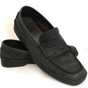 TODS men slip on driving loafer oiled leather 10.5